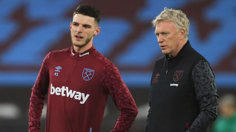 David Moyes would not entertain the prospect of selling Declan Rice for £100m