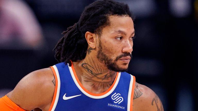 New York Knicks guard Derrick Rose (AP)