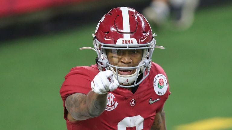 Alabama wide receiver DeVonta Smith (Photo by George Walker/Icon Sportswire via AP images)