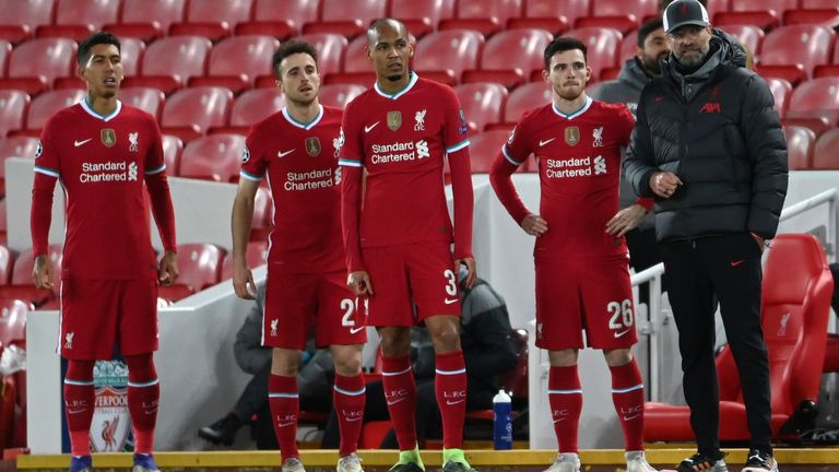 Roberto Firmino, Diogo Jota and Fabinho would all be required to undergo 10 days' hotel isolation under current guidelines as arrivals from Red List countries