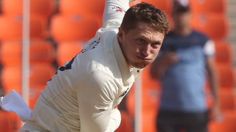 Dom Bess came back into the England XI for the fourth Test but struggled for control (Pic credit - BCCI)