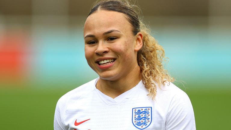 Ebony Salmon made her England debut in February (PA)