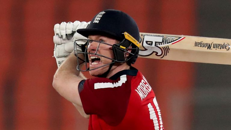 England captain Eoin Morgan is one of three left-handers that come in consecutively in the middle order