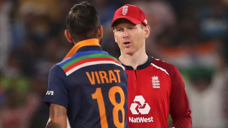 Eoin Morgan wants his England side to learn from slow pitches as they look to build for the T20 World Cup in India later this year