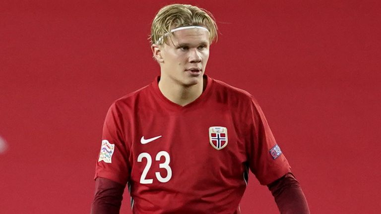 Norway and Dortmund forward Erling Haaland is a transfer target for Europe's top clubs.