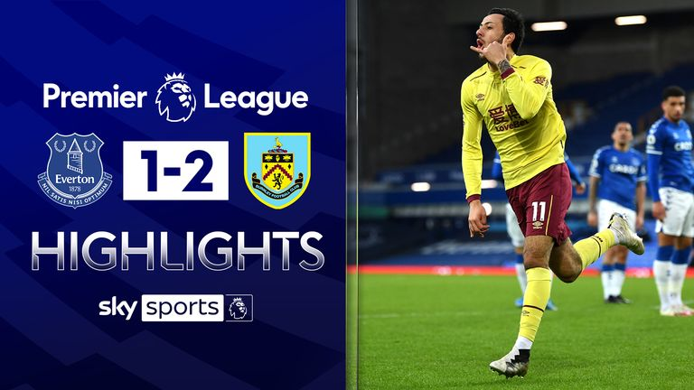 EVERTON 1-2 BURNLEY