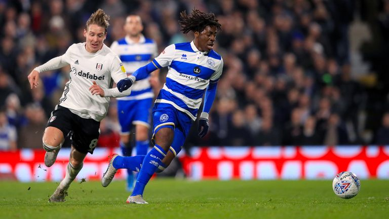 Eze's dribbling ability caught the eye at QPR
