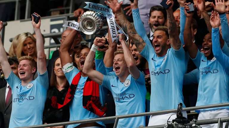 Manchester City have reached the last four of the FA Cup three years running for the first time since 1932