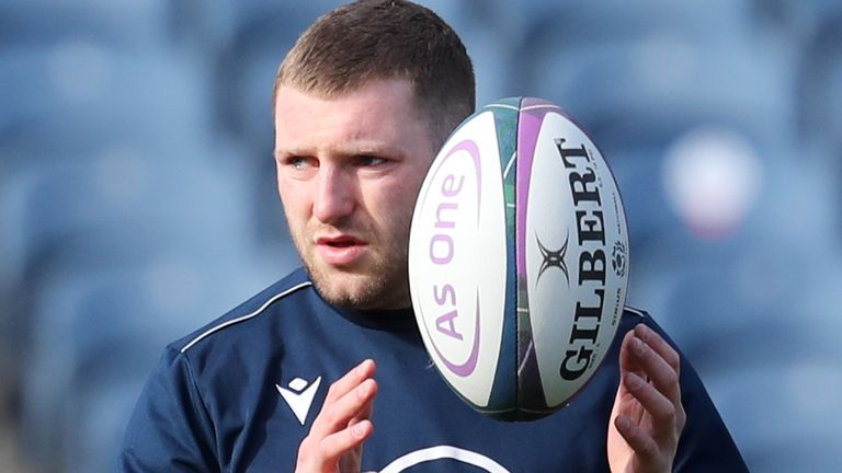 Russell helped Scotland to victories at Twickenham and in Paris