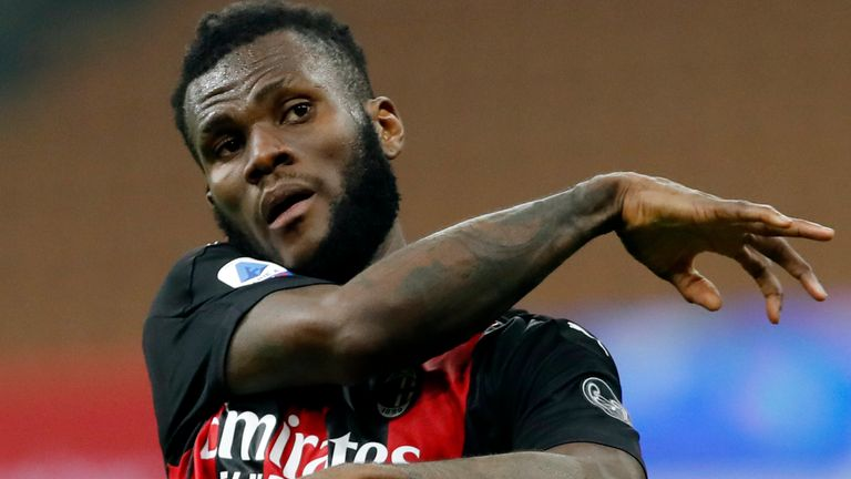 Franck Kessie scored the last-minute penalty for AC Milan