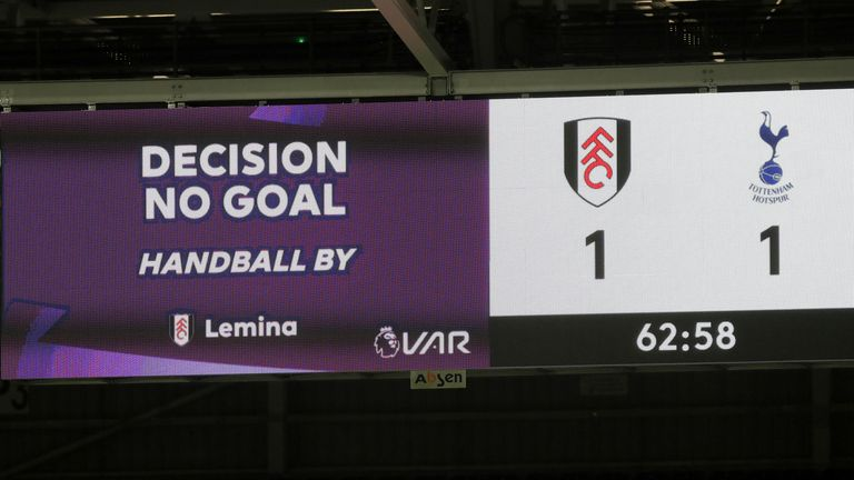Fulham's equaliser was ruled out against Tottenham for handball - but wouldn't have been under the new regulations from July