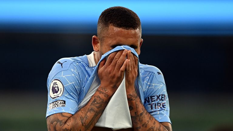 Gabriel Jesus was guilty of conceding a penalty inside the first minute