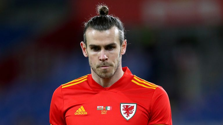 Wales' Gareth Bale during the international friendly at the Cardiff City Stadium, Cardiff. Picture date: Saturday March 27, 2021 (PA Image)