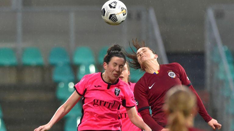 AP - Glasgow City's Leanne Crichton (left) in action against Sparta Prague in the Women's Champions League in December