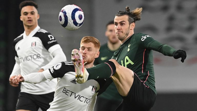 Harrison Reed compete's for possession with Gareth Bale (AP)