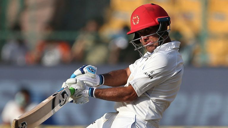 Afghanistan's Hashmatullah Shahidi averaged 24.50 in his four Tests before surpassing his previous best of score of 61