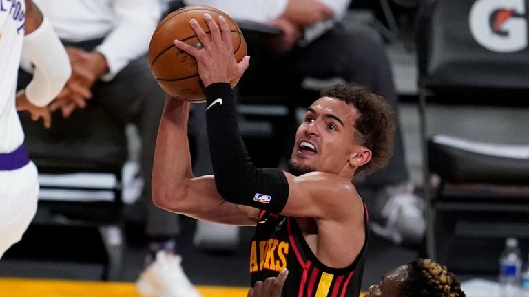NBA: Hawks Lakers - Trae Young