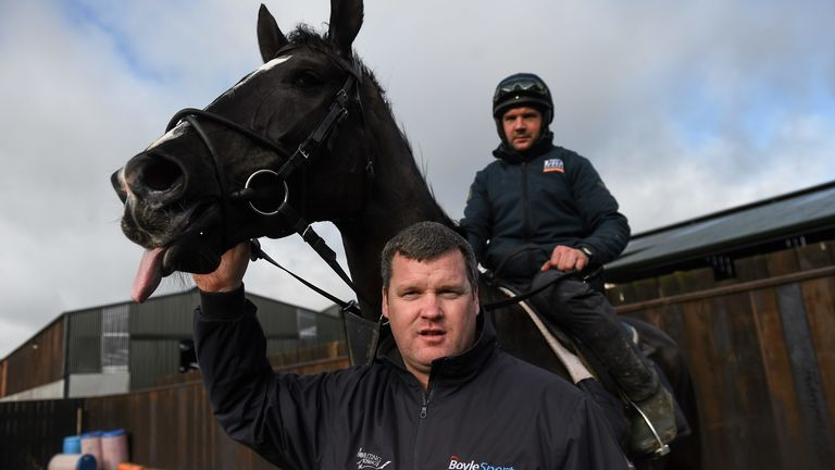 Simon McGonagle, pictured here on the 2016 Gold Cup winner Don Cossack, with Gordon Elliott
