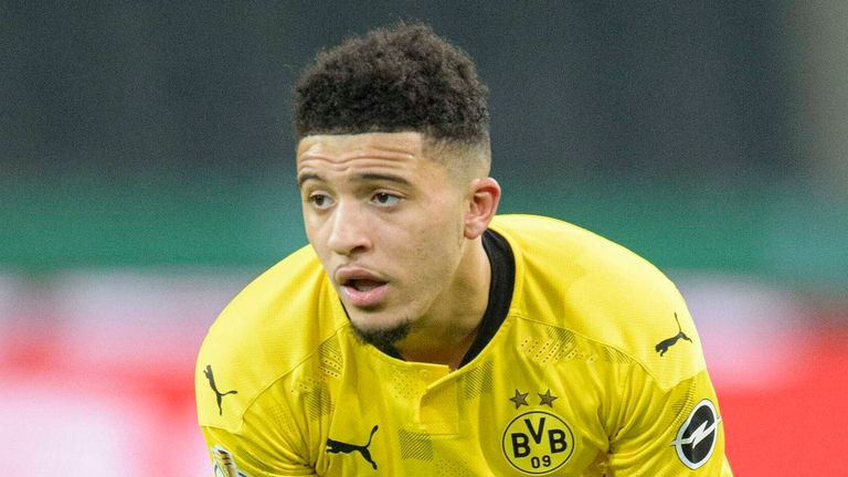 Jadon Sancho is set to face Manchester City in the Champions League next month