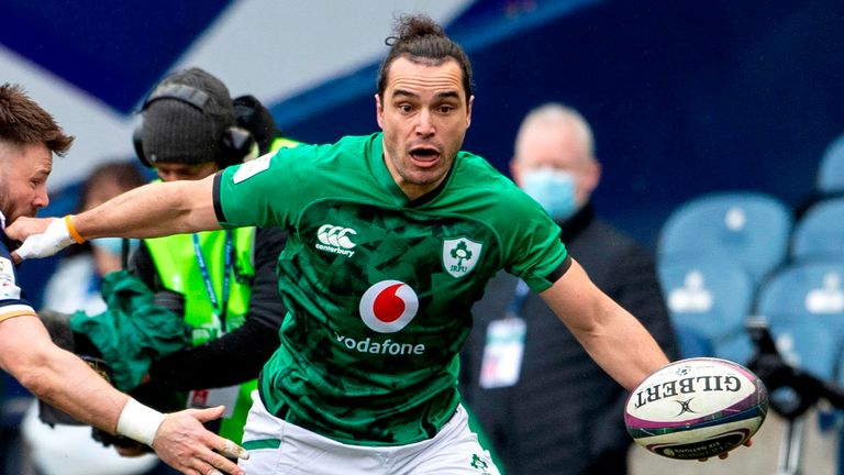 James Lowe made the initial break that led to Ireland's first points
