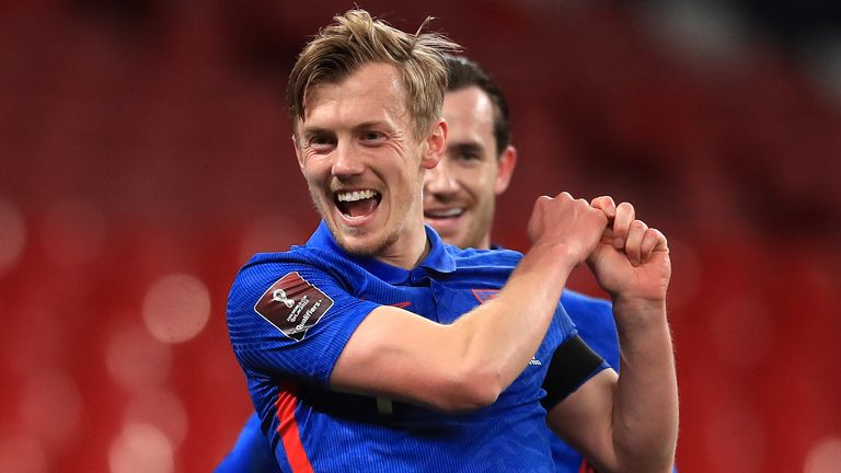 James Ward-Prowse scored England's opener against San Marino