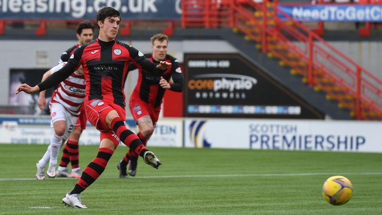McGrath's 11th goal of the season gave St Mirren the first-half lead