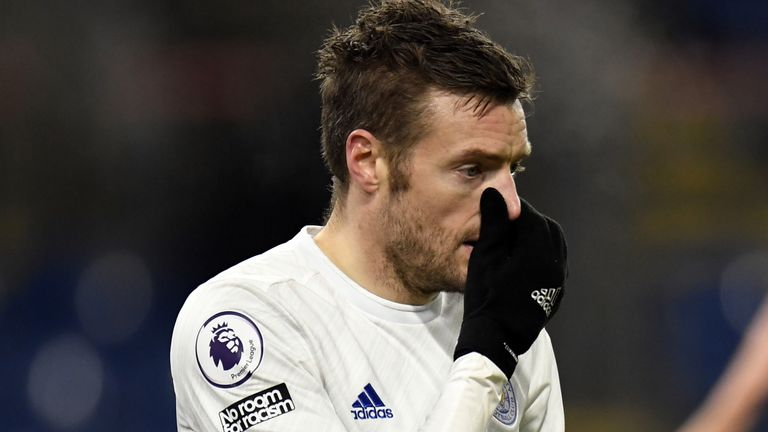 Jamie Vardy has struggled for goals in 2021