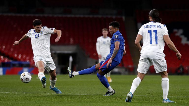 جيسي لينجارد في مباراة إنجلترا ضد سان مارينو