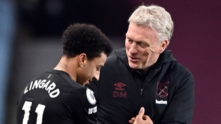 David Moyes says Jesse Lingard's performances for West Ham have merited his England recall