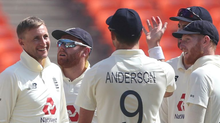 England captain Joe Root (left) will lead his Test side against West Indies in three Tests early in 2022 following the Ashes
