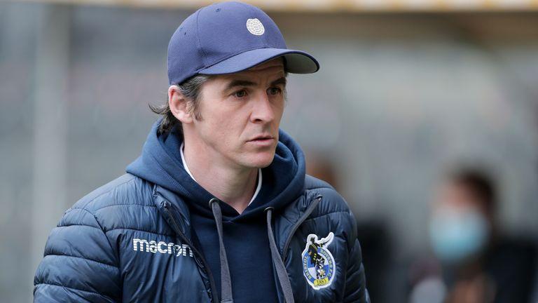 Bristol Rovers Manager, Joey Barton during the Sky Bet League One match at the KCOM Stadium, Kingston upon Hull. Picture date: Saturday March 6, 2021.