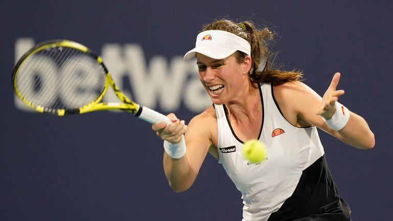 Joanna Kunta perdió una racha perdedora ante Petra Kvitova el sábado en el Miami Open (AP Photo / Wilfredo Lee)