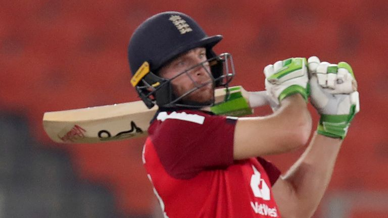 Jos Buttler impressed at the top of the order, striking a career-high of 83 in the third T20I against India