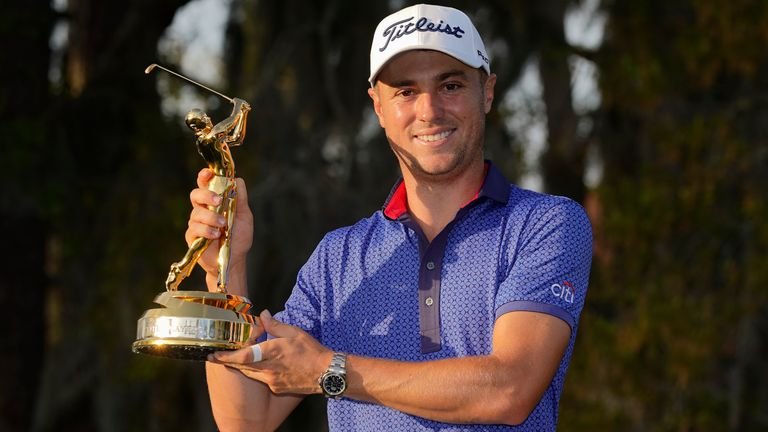 Justin Thomas claimed a one-shot victory over Lee Westwood at The Players in March