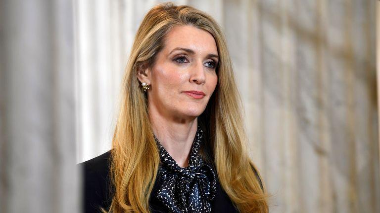 Former Dream co-owner Kelly Loeffler (AP Photo/Susan Walsh, File)