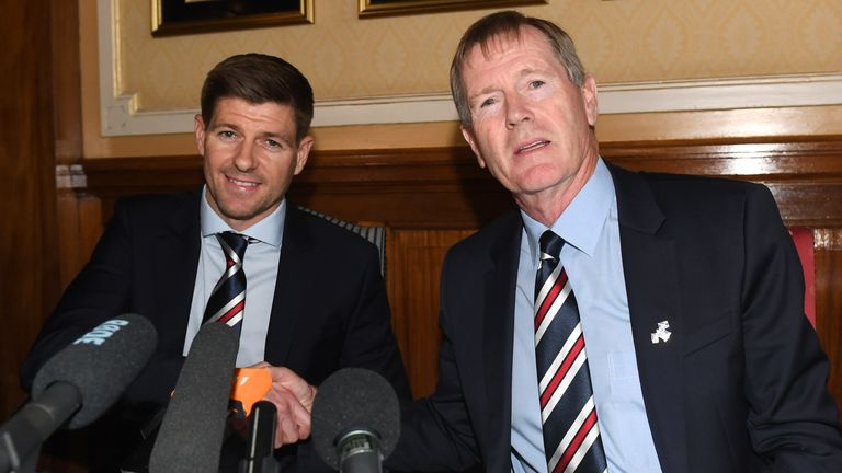 King oversaw the move to see Steven Gerrard become Rangers manager in 2018