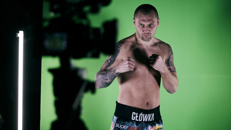 *** FREE FOR EDITORIAL USE ***.Krzysztof Glowacki during todays Media Day..16 March 2021.Picture By Mark Robinson Matchroom Boxing.