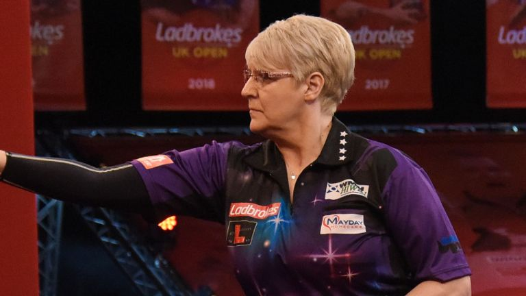 Lisa Ashton set a new record on day one of the UK Open