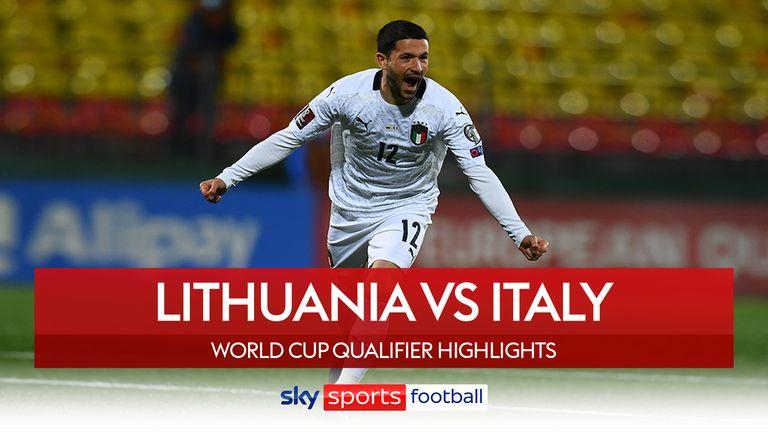 Repere ale meciului Lituaniei cu Italia
