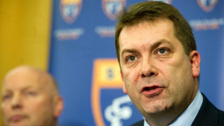 13/07/12  .HAMPDEN - GLASGOW.SFL Chief Executive David Longmuir announces that Rangers will be players in the third division next season