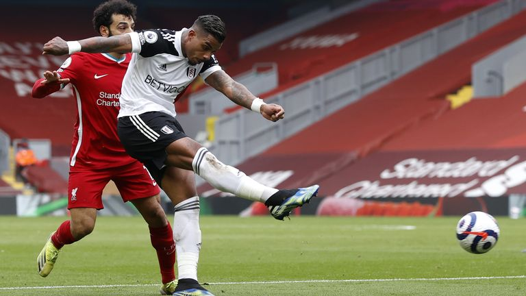 Mario Lemina makes it 1-0 to Fulham at Anfield