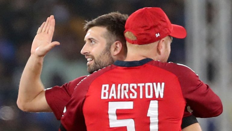 Mark Wood (left) sat out Sunday's match with a bruised heel