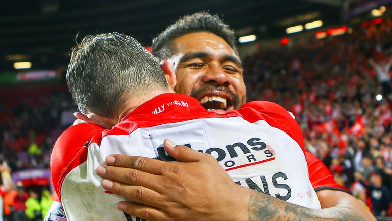 Masoe became a Super League Grand Final winner with St Helens in 2014