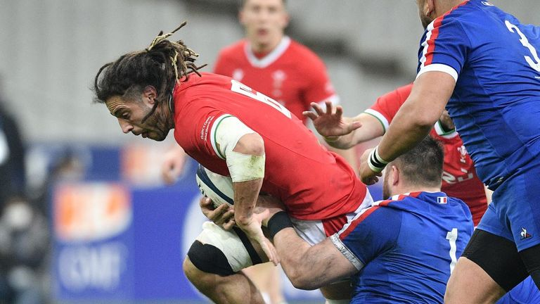 Josh Navidi put in an immense effort from the Wales back-row