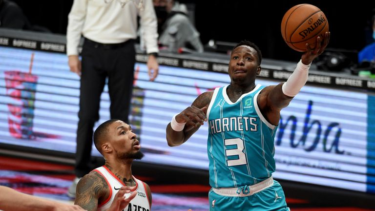 Highlights of the Charlotte Hornets against the Portland Trail Blazers in Week 11 of the NBA.