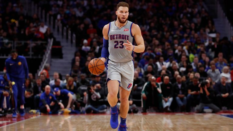 Blake Griffin averaged 25 points, 8 rebounds and 5 assists for the Detroit Pistons in 2018/19, as well as being named an All-Star and making the All-NBA Third Team
