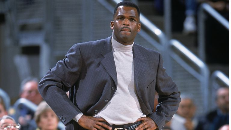 Head Coach Nate McMillan looks on from the sidelines as the Seattle SuperSonics defeat the Orlando Magic 97-92 in December 2000.