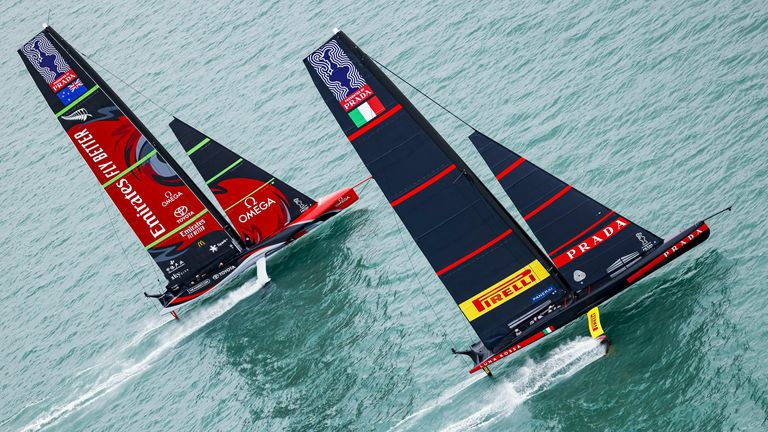 Both outfits will return on Wednesday with Luna Rossa aiming to extend the contest and Emirates Team New Zealand close to securing the Auld Mug (Image Credit - ACE | Studio Borlenghi)