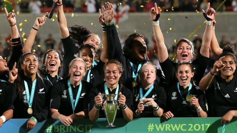 New Zealand won the 2017 Women's Rugby World Cup, but England may offer to host the 2025 edition