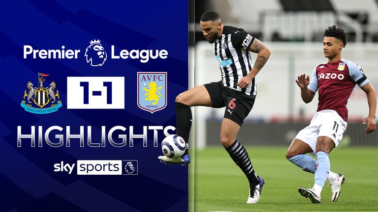 NEWCASTLE 1-1 ASTON VILLA
